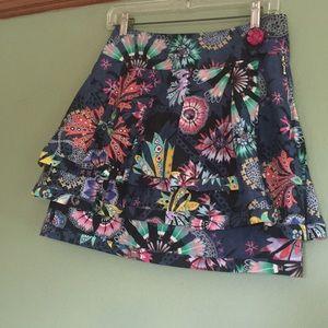 Anthropologie Leifsdottir floral mini skirt size 4